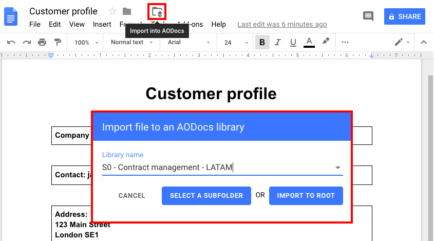 Add files and folders to your Secured Folder – AODocs