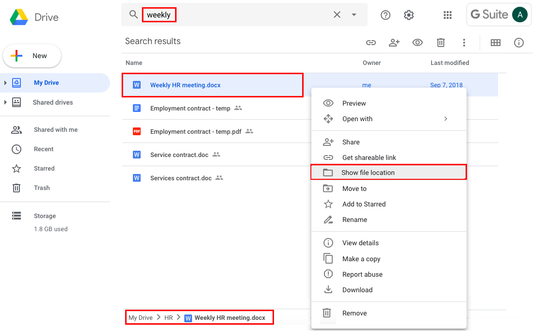 Locate Your Google Files In Google Drive Aodocs Knowledge Base